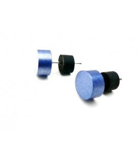 Blauwe oorknopjes oorbellen van Tjonge Jonge