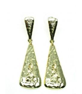 Goudkleurige metalen oorbellen