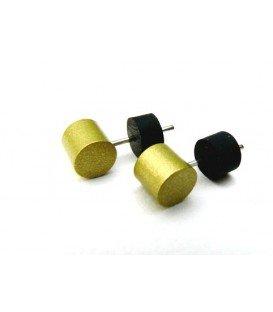 Gele oorknopjes oorbellen van Tjonge Jonge