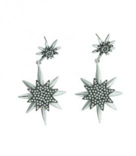 Zilverkleurige oorbellen met ster hanger
