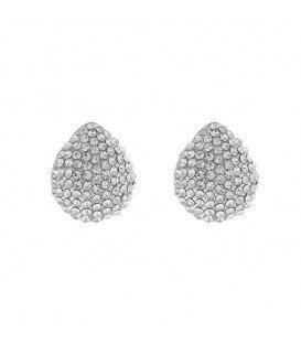 Zilverkleurig stijlvolle oorclips voor de feestdagen, ideaal wanneer je geen gaatjes hebt in je oren