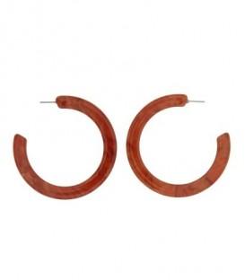 Oranje ronde oorbellen (creool)