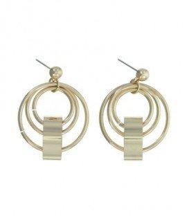 Goudkleurige oorbellen met ronde elementen