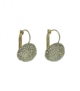 Goudkleurige oorbellen met strasssteentjes en klaphaak