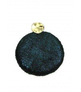 Donkergroene ronde oorbellen met glinstering