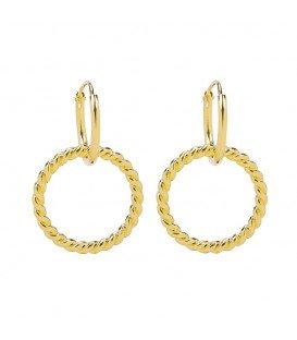 Goudkleurige oorbellen met ring