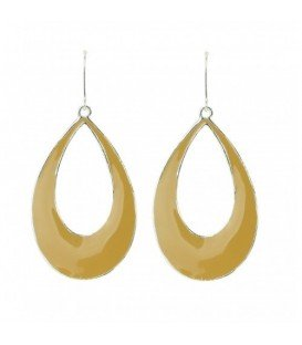 Gele ovale oorbellen