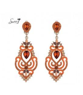 zeer mooie bruin oranje lange oorclips van sweet7