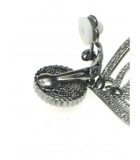 zilverkleurige oorclips met miyuki kralen