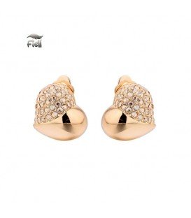 rose gold oorclips met strass steentjes